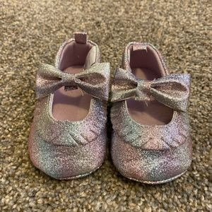 Glittery shoes with a bow